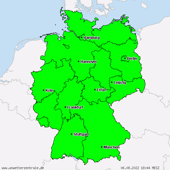 Aktuelle Unwetterwarnungen