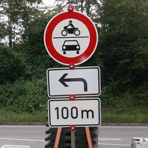 Verkehrssicherung und Verkehrszeichen