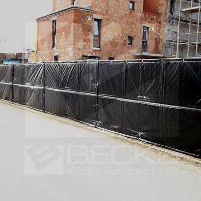 Lärmschutzmatte zur Minderung von Baulärm