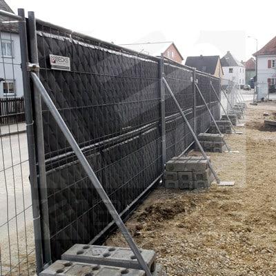 Lärmschutzmatte Bauzaun Regensburg